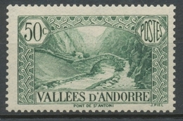 Andorre Français N°65, 50c. Vert NEUF** ZA65 - Ungebraucht