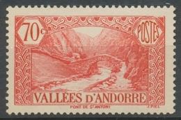 Andorre Français N°69, 70c. Rouge NEUF** ZA69 - Ungebraucht