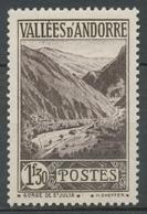 Andorre Français N°78, 1f.30 Brun-noir NEUF** ZA78 - Ungebraucht
