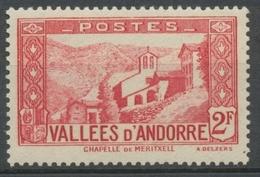Andorre Français N°81, 2f. Rouge Carminé NEUF** ZA81 - Ungebraucht