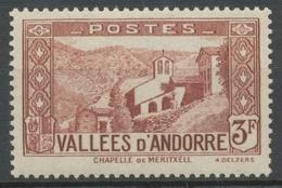 Andorre Français N°88, 3f. Brun-rouge NEUF** ZA88 - Ungebraucht