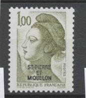 SPM  N°461 T.-P De France De 1982 à 1985. 1f. Olive (2185) ZC461 - St.Pierre & Miquelon