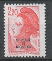 SPM  N°464 T-P France De 1982 à 1985 2f 20  Rouge (2376a) ZC464 - St.Pierre & Miquelon