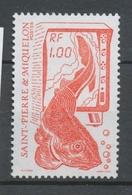 SPM  N°472 La Pêche Méthode Moderne De Détection 1f Rouge ZC472 - St.Pierre & Miquelon