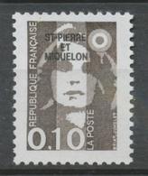 SPM  N°514 Marianne Du Bicentenaire 10c Bistre-noir (2617) ZC514 - Ungebraucht
