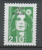 SPM  N°517 Marianne Du Bicentenaire. 2f.10  Vert (2622) ZC517 - Ungebraucht