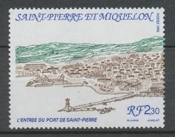 SPM  N°529 Vue Générale De Saint-Pierre 2f30 Bleu, Vert, Brun L' Entrée Du Port ZC529 - St.Pierre & Miquelon