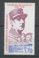 SPM  N°531 Centenaire De La Naissance Du Général Charles De Gaulle 1f70 ZC531 - St.Pierre & Miquelon