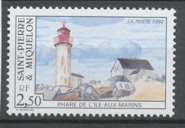 SPM  N°565 Les Phares. 2f.50  Phare De L' Ile-aux-Marins ZC565 - St.Pierre & Miquelon