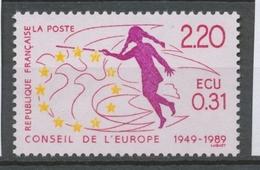 Service N°100 40e Anniversaire Du Conseil Europe Allégorie  2f20 ZS100 - Neufs