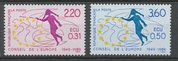 Service N°100-101 Série 40e Anniversaire Du Conseil Europe  2 Val. ZS100A - Neufs