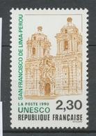 Service N°102 UNESCO San Francisco De Lima - Pérou 2f30 Vert, Brun-jaune, Noir ZS102 - Neufs