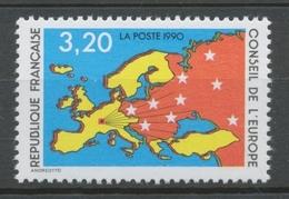Service N°105 Conseil Europe Carte D' Europe, étoiles 3f20 ZS105 - Neufs