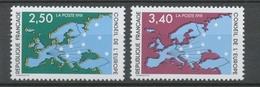 Service N°106-107 Série Conseil De L' Europe.  2 Valeurs ZS106A - Neufs