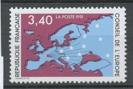 Service N°107 Conseil De L' Europe. 3f.40  Multicolore ZS107 - Neufs