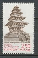Service N°108 UNESCO Temple De Bagdaon - Népal 2f50 Brun, Rouge ZS108 - Neufs