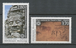 Service N°110-111 Série UNESCO Patrimoine Unniversel 2 Val. ZS110A - Neufs