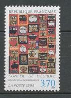 """Service N°113 Conseil Europe """"36 Têtes"""" Hundertwasser 3f70 ZS113 - Neufs"""