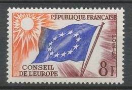 Service N°17 Conseil Europe 8 F Violet, Bleu Foncé, Orange ZS17 - Neufs