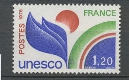 Service N°56 UNESCO 1 F.20 Vert, Outremer Et Brun-rouge ZS56 - Neufs