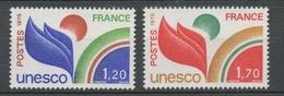 Service N°56-57 Série UNESCO.  2 Valeurs ZS56A - Neufs