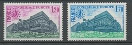 Service N°58-59 25e Anniversaire Conv. Europ. 2 Valeurs ZS58A - Neufs