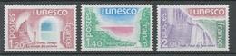 Service N°60-62 Série UNESCO.  3 Valeurs ZS60A - Neufs