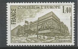 Service N°63 Conseil De L' Europe. 1f.40 Brun-olive ZS63 - Neufs