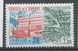 Service N°77 Conseil De L' Europe 2f Vert Carmin, Bleu-vert ZS77 - Neufs