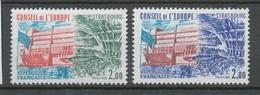 Service N°77-78 Série Conseil Europe Type De 1981  2 Val. ZS77A - Neufs