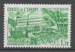 Service N°82 Conseil De L' Europe. 1f.70 Vert ZS82 - Neufs