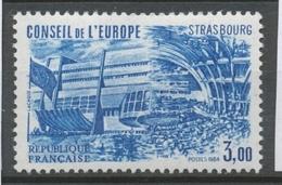 Service N°84 Conseil De L' Europe. 3f. Bleu ZS84 - Neufs