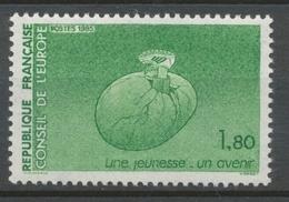 Service N°85 Conseil De L' Europe Pied Chaussé 1f80 Vert ZS85 - Neufs