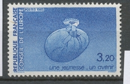 Service N°87 Conseil De L' Europe Pied Chaussé 3f20 Bleu ZS87 - Neufs