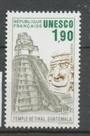 Service N°91 UNESCO Temple De Tikal - Guatemala  1f90 Gris, Brun Clair, Vert ZS91 - Neufs