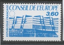 Service N°97 Conseil De L' Europe. 3f.60 Bleu ZS97 - Neufs
