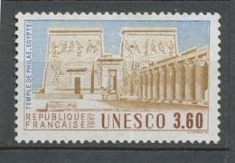Service N°99 UNESCO Temple De Philae - Egypte 3f60 Bleu, Beige, Brun ZS99 - Neufs