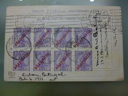 D.MANUEL II COM SOB.REPÚBLICA - POSTAL ILUSTRADO COM RELEVO - UM TRECHO VISTO DE S.PEDRO D'ALCANTARA - Lettres & Documents