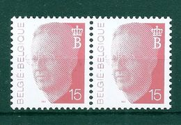 BELGIE  ALBERT II * Nr 2450 P5a * Postfris Xx * HELDER PAPIER - 1981-1990 Velghe