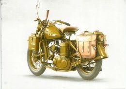 Harley-Davidson Motorcycle WLA 740 Cm3. US Military Police Army 1942, Postcard Sent To Andorra - Moto