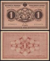 FINNLAND - FINLAND 1 MARKKA BANKNOTE 1916 PICK 19 XF (2)  (23840 - Finlande
