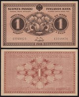 FINNLAND - FINLAND 1 MARKKA BANKNOTE 1916 PICK 19 XF (2)  (23840 - Finland