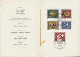 1958 Ersttag Schweiz Mineralien/Pro Patria PTT Folder   (23851 - Zwitserland