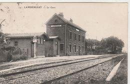 Lambersart  , La Gare ( Intérieur , Quai , Voie  ,train ) Editeur: ELD ,n° 19 - Lambersart