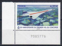 """FR 2019 / 1ex PA N° 83 Coin De Feuille """" LE CONCORDE-50ème Anniversaire 1er Vol """" / En Marge N° De Feuille-NEUF - 1960-.... Neufs"""