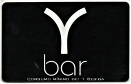"""Y Bar - Card N.º 6285 - Consumo Mínimo: 1 Bebida - Advertising PEPSI & Restaurante O """" Alentejano """" Beja Portugal - Autres Collections"""