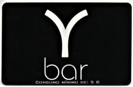 """Y Bar - Card N.º 7959 - Consumo Mínimo: 5 € - Advertising PEPSI & Restaurante O """" Alentejano """" Beja Portugal - Andere"""