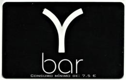 """Y Bar - Card N.º 7038 - Consumo Mínimo: 7,5 € - Advertising PEPSI & Restaurante O """" Alentejano """" Beja Portugal - Andere"""