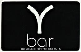 """Y Bar - Card N.º 8298 - Consumo Mínimo: 10 € - Advertising PEPSI & Restaurante O """" Alentejano """" Beja Portugal - Andere"""