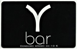 "Y Bar - Card N.º 8298 - Consumo Mínimo: 10 € - Advertising PEPSI & Restaurante O "" Alentejano "" Beja Portugal - Autres Collections"